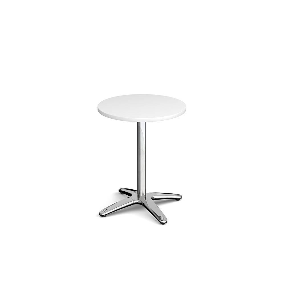 Dwell Circular Dining Table With 4 Leg Base White