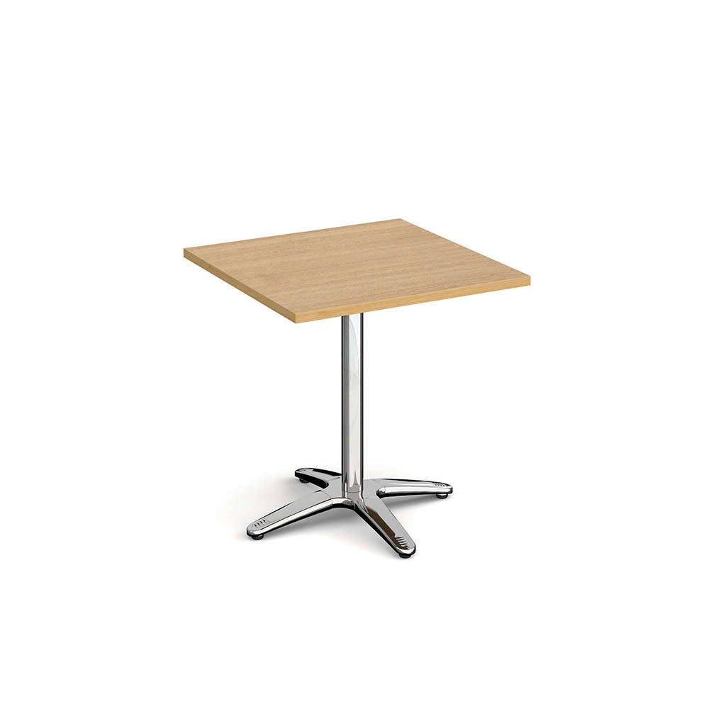 Dwell Square Dining Table With 4 Leg Base Oak