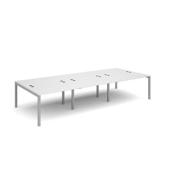 Economony 6 Person White Bench Desk